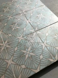 D'Orsay pattern board with grout