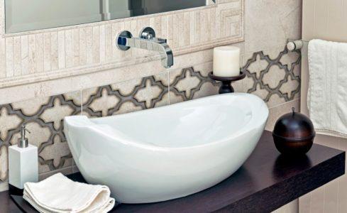 Milano pattern bathroom installation