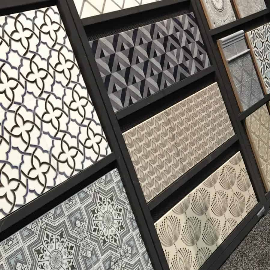 new tile designs displayed in our booth at Coverings tile show