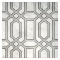 in stock tile pattern alto 12x12 on white carrara marble stone tile natural designs hand-printed for bathroom wall tile backsplash