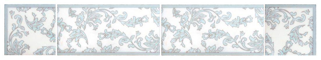 leafy listello patterned tile leaves leaf vine viney accents stone tile decorative designer designs patterns patterned