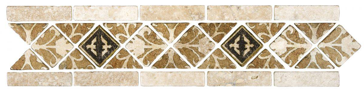 Natural Decorative Tile in Amaretti Earth Deco Strip