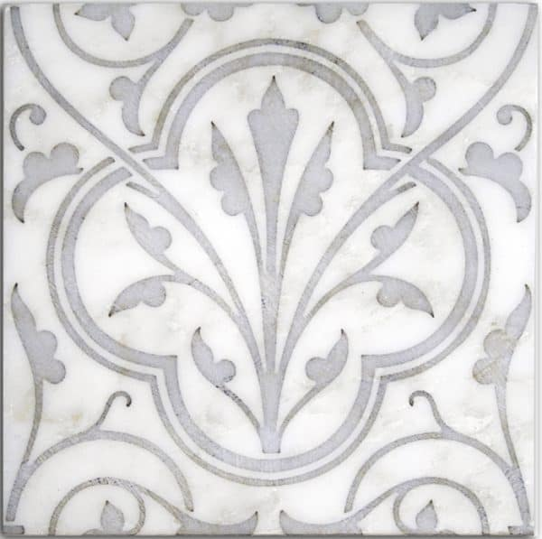 Devonshire Pattern (Petwer) on Carrara