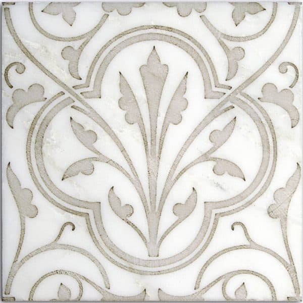 Devonshire Pattern (Taupe) on Carrara