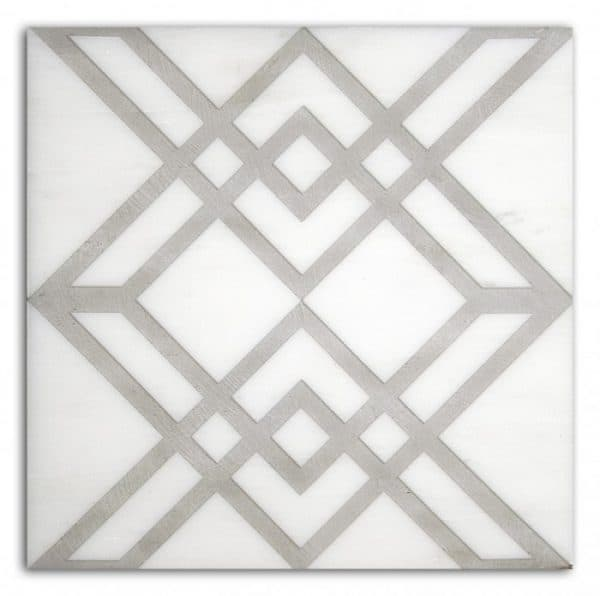 geometric pattern tiles designs ideas luxury decorative stone accents decos limestone carrara marble thassos durangoi travertine tumbled straight-edged geometrical artwork pre-sealed and ready to install