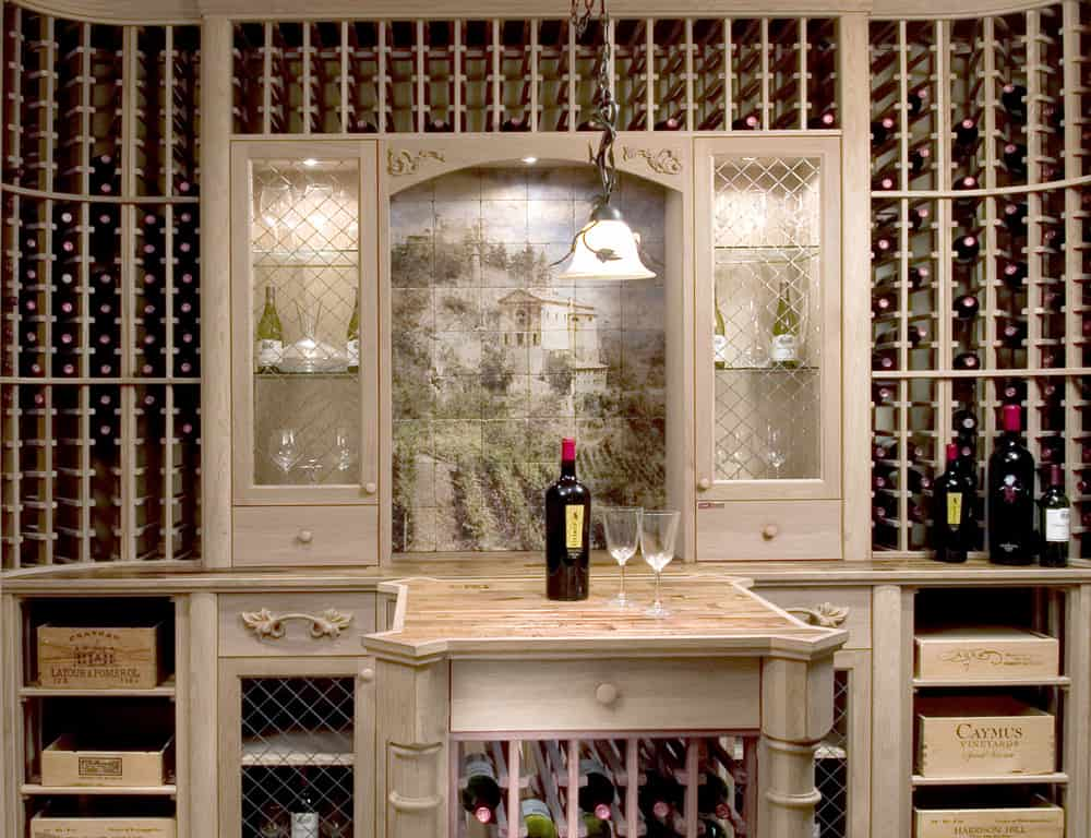 french fortress wine cellar install