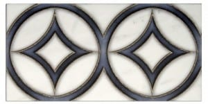 hayden duo listello on white carrara marble stone tile natural in stock designs