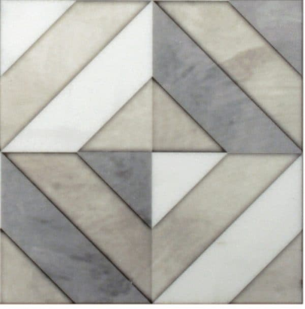 designer color block tiles designs and patterns on natural stone including carrara limestone for fireplace bathroom wall 6x6 12x12 3x3 18x18 8x8