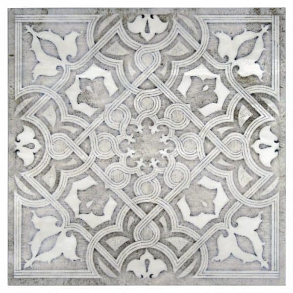 luxury wall tile high-end patterns and designs designer decorative accents listellos luxurious one of a kind limestone carrara marble travertine crema ella botticino 6x6 12x12 2x2 3x3 4x4 8x8 18x18 art decos accents stone
