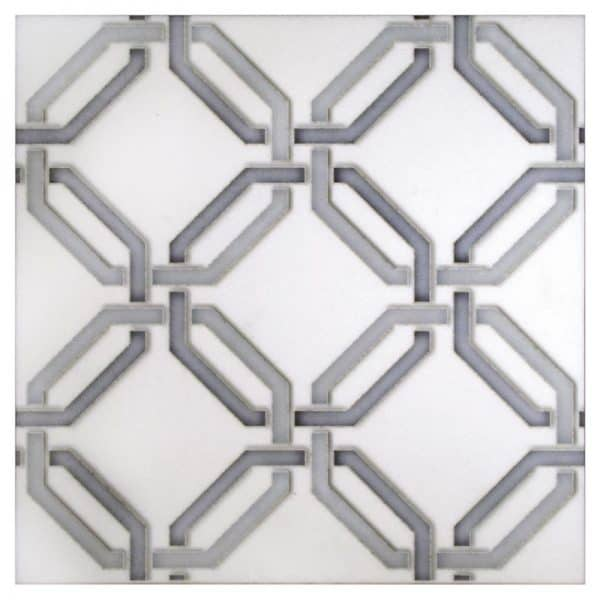real stone carrara marble contemporary decorative tiles hand-printed hand-sealed