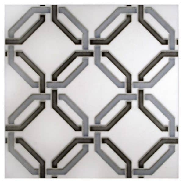 Lattice Quad Pattern (Sterling) on Thassos