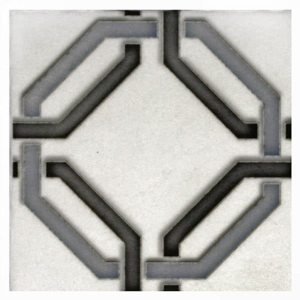 Lattice Single Pattern (Sterling) on Thassos