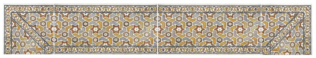 luxury listellos and african inspired tile designer patterned decorative accents 6x12 4x8 3x6 natural stone corners