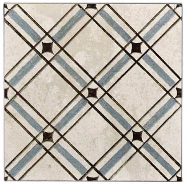 Madison Weave Pattern (Arctic Blue) on Limestone