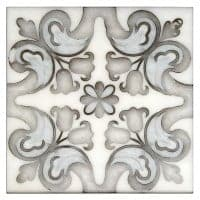 marbella in 6x6 or 12x12 on white carrara marble stone tile natural designs