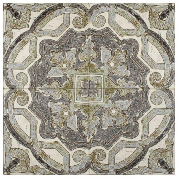 decorative antiqued pattern kitchen tile for backsplash wainscoting 6x6 12x12 4x4 3x3 2x2 18x18