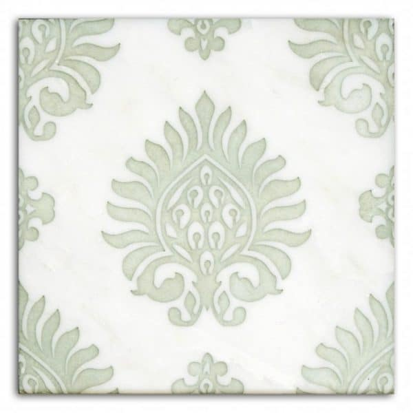 Paige Pattern (Celery) on Carrara