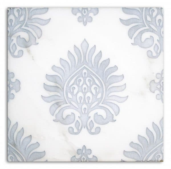 Paige Pattern (Powder Blue) on Carrara