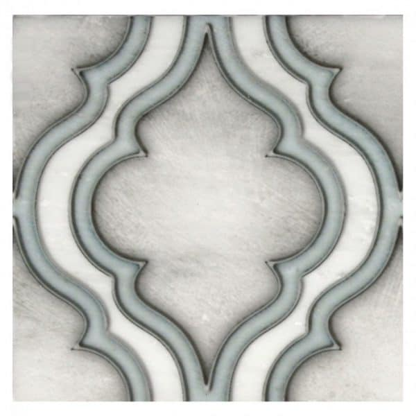 Pirouette Pattern (Cerulean) on Carrara