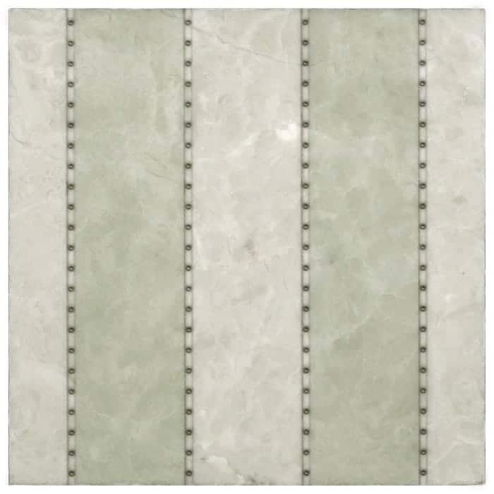 Taylor Pattern (Celadon) on Crema Ella Discontinued Stone