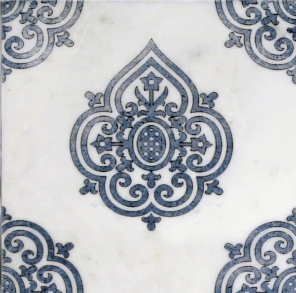 Decorative Single tile in Caprice Sapphire Pattern