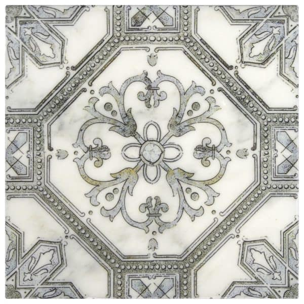 Decorative Single tile in Cambridge Pattern