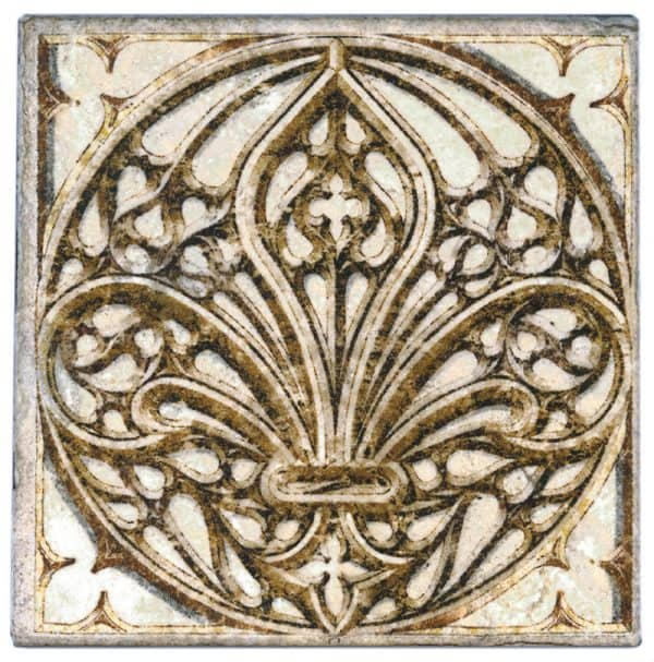 Cathedral Collection in Fleur d'Lus Accent on Tumbled Durango marble