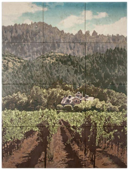Collina Di Vino Mural Rendering