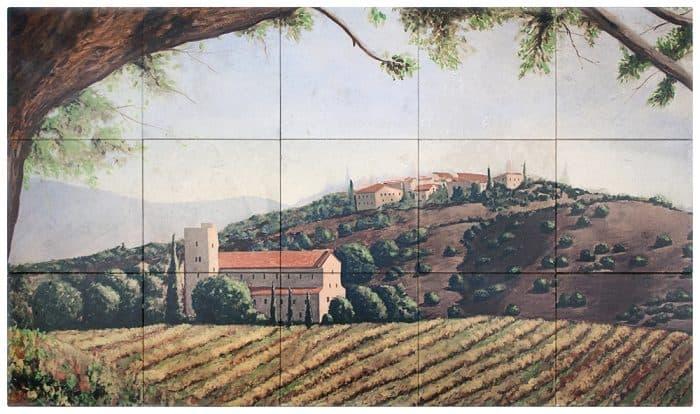 Villa vignoble Mural Rendering