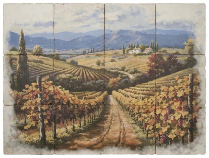Vineyard Stroll Mural Rendering
