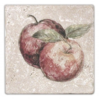 Fruttetto Apple Accent on Light Travertine