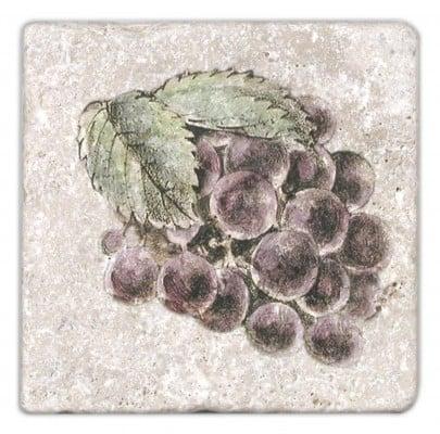 Fruttetto Purple Grapes Accent on Light Travertine