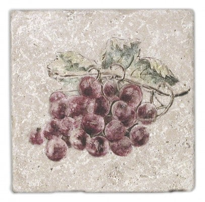 Fruttetto Red Grapes Accent on Light Travertine