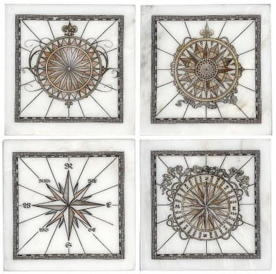 Compass Accent Collection Carrara