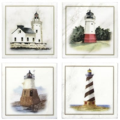 Lighthouse Accents on Carrara