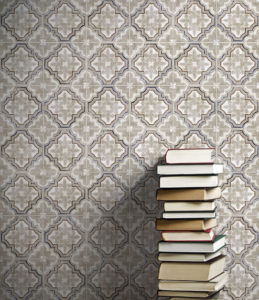 Altalena pattern wall installation with books