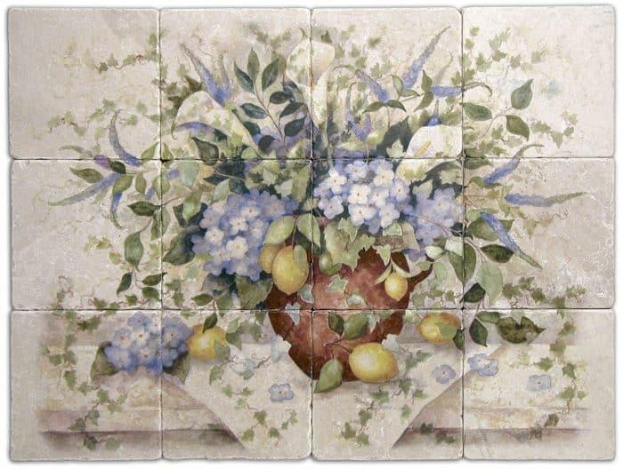 Country Garden Mural Product SHot Botticino