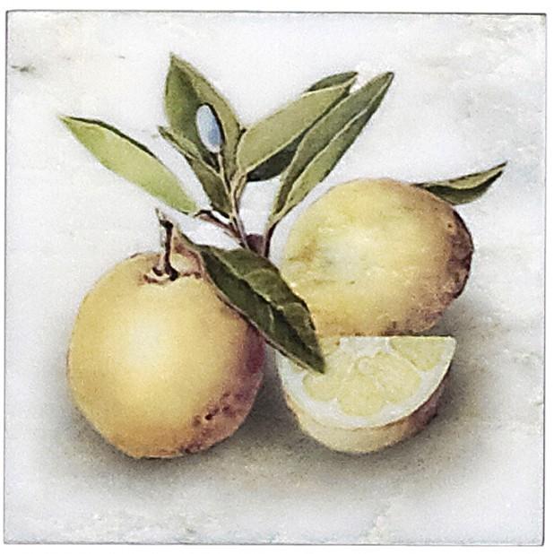 Citron Triple Accent on Carrara