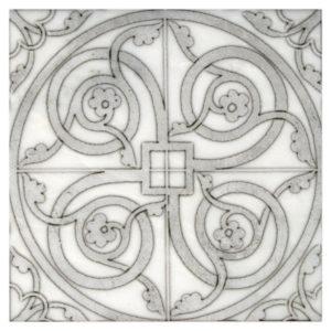 Cortina vine pattern in grigio