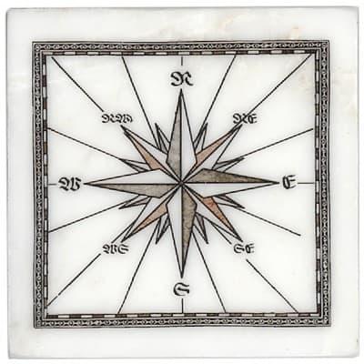 East Compass Accent on Carrara
