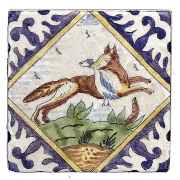Delft Hunting Fox Accent Botticino