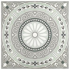 Nicolo pattern (viridian) on Carrara