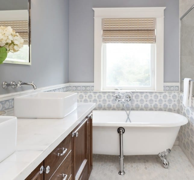 bathroom design ideas thassos marble carrara 6x6 12x12 3x3 8x8 backsplash tub surround walls shower wainscot limestone accents decos listellos decorative designer patterned inspiration inspired