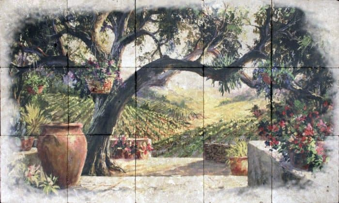 tile landscape murals made to order in any size limestone carrara