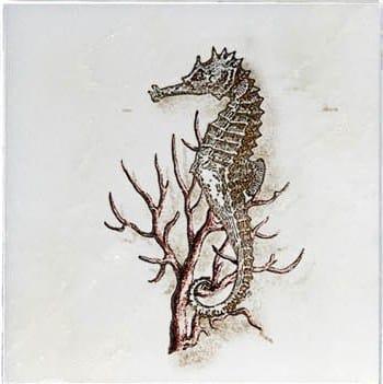 Seahorse Ocean Life Accent Carrara