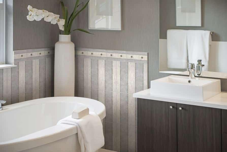 Taylor Pattern Vertical Install Bathroom Button