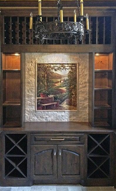 Verano Afternoon Mural Wine Room Backsplash