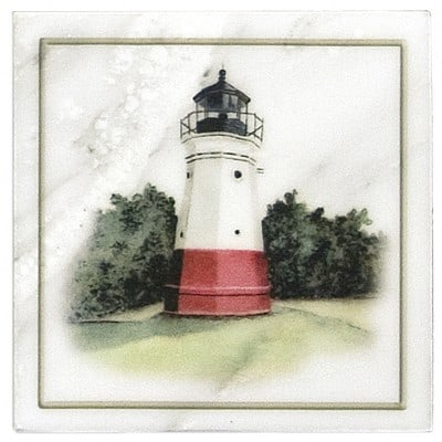 Vermillion Lighthouse Accent