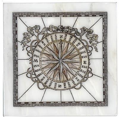 West Compass Accent on Carrara