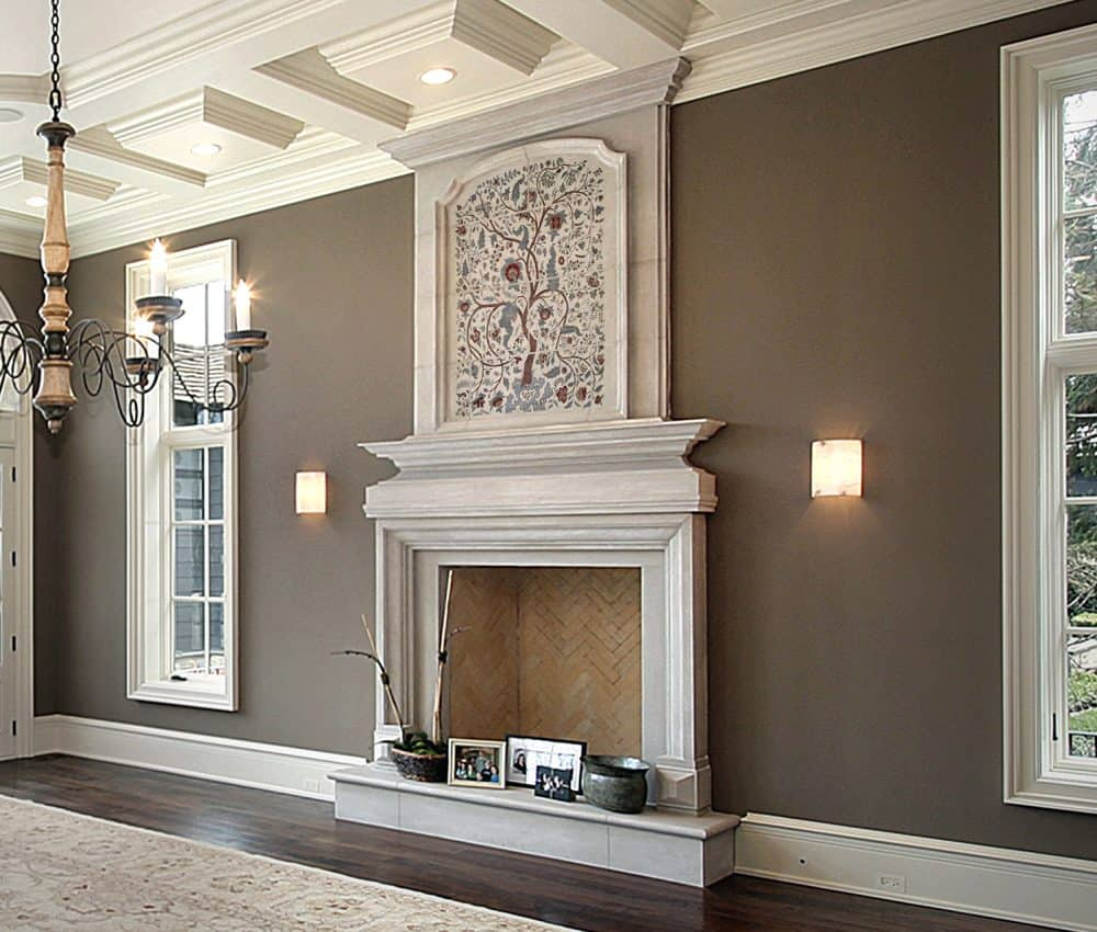 Scarlet Cadre Fireplace Install